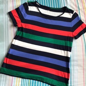 J. Crew striped tee shirt tshirt red navy blue
